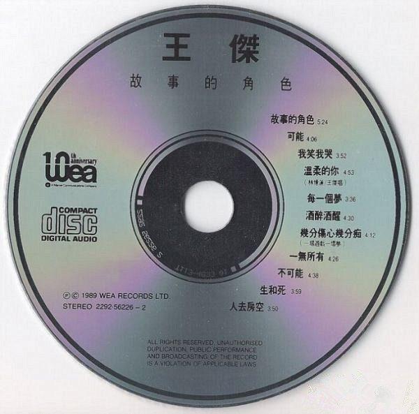 王傑 - 故事的角色 CD