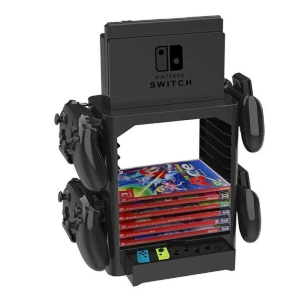 Kệ đa năng chứa băng game, Pro Controller, dock, joy-con và máy Nintendo Switch (1)