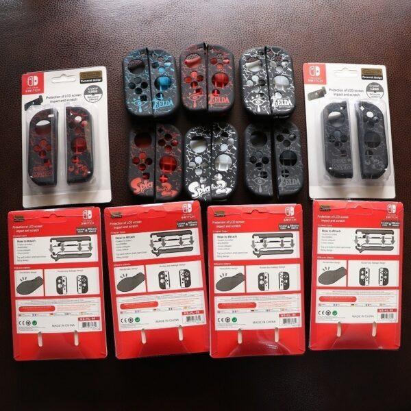Case TPU dẻo cán lồi hoa văn Zelda, Super Mario, Splatoon 2 cho Joy-Con – Nintendo Switch (2)